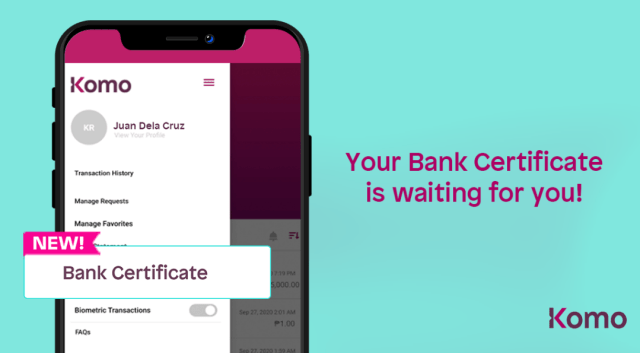 EastWest Bank's Komo makes Bank Certificate requests available  in just a few taps | Good Guy Gadgets