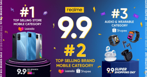 realme Philippines Official Store emerges as no. 1 top-selling mobile store during 9.9 Big Brands Sale | Good Guy Gadgets