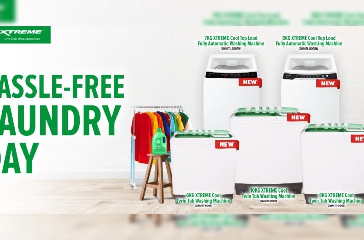 Achieve a hassle-free laundry day with XTREME Cool's new washing machines   Good Guy Gadgets
