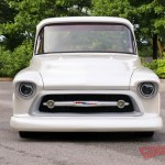Snow White George And India Sepulveda S Sanitary 57 Chevy Pickup Goodguys News Archives