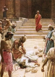 The Murder of Zechariah by William Brassey Hole.