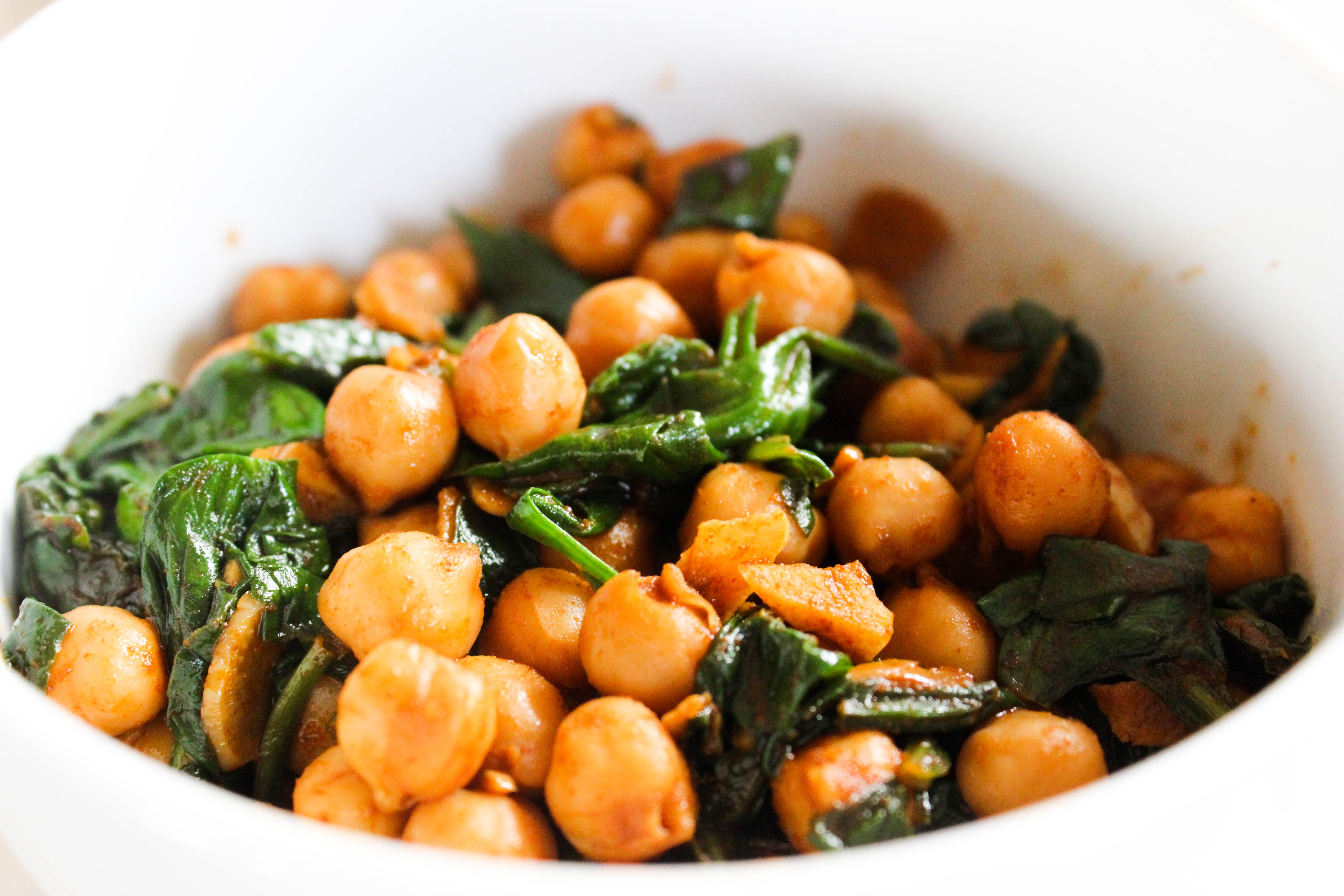 Spanish Spinach And Chickpeas