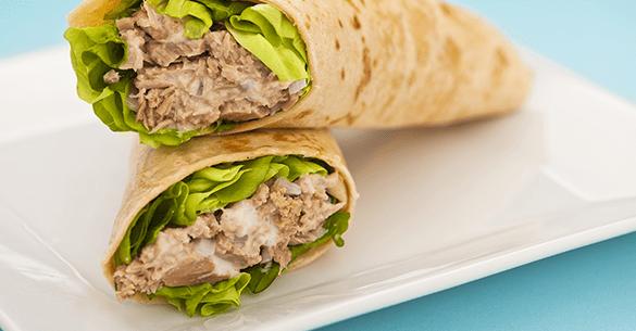 Burrito de atun - Prepara un Burrito de Atún, Receta para Diabéticos