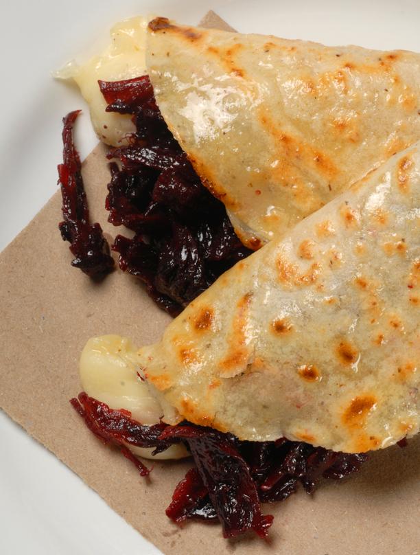 Quesadilla de Flor - Recipe for Quesadilla with Jamaican Flower