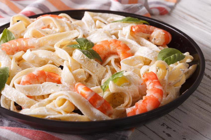 receta de pasta espaguetis con camarones y salsa cremosa - Spaghetti Recipe with Shrimp and Creamy Sauce Pasta