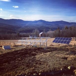 solar array going up