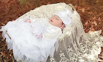 Haute Baby Christening Gown