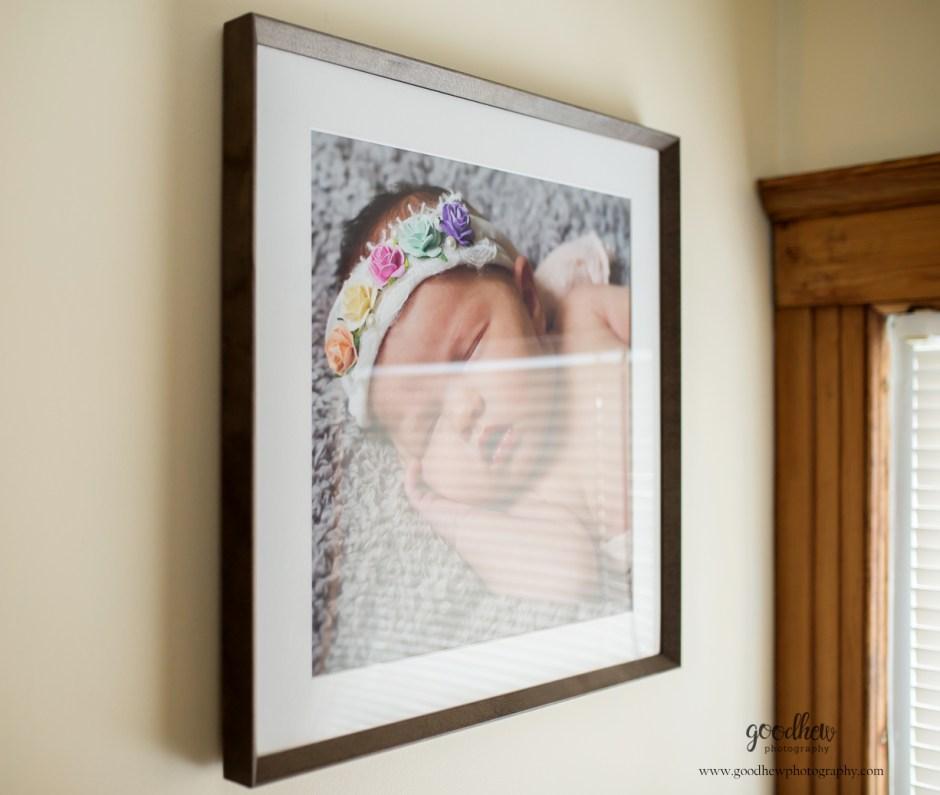 Jackson, Michigan framed newborn image - Goodhew Photography