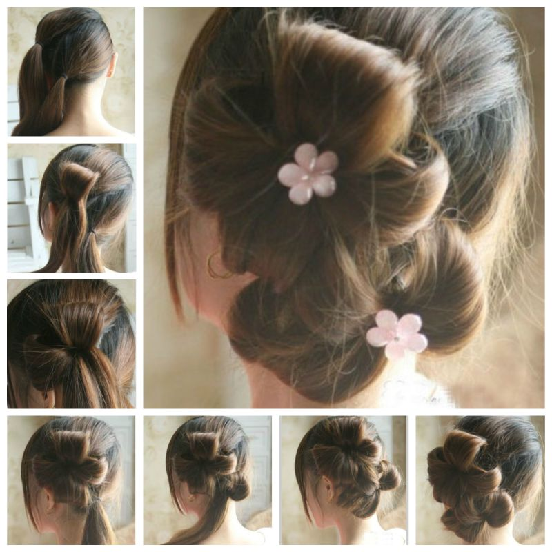 DIY Chic Flower Petal Updo Hairstyle  Good Home DIY