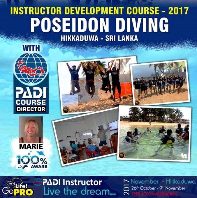 PADI Open Water scuba dive certification – Poseidon Dive Station Hikkaduwa Sri Lanka
