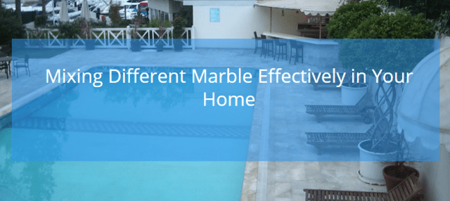 Mixing different marble flooring