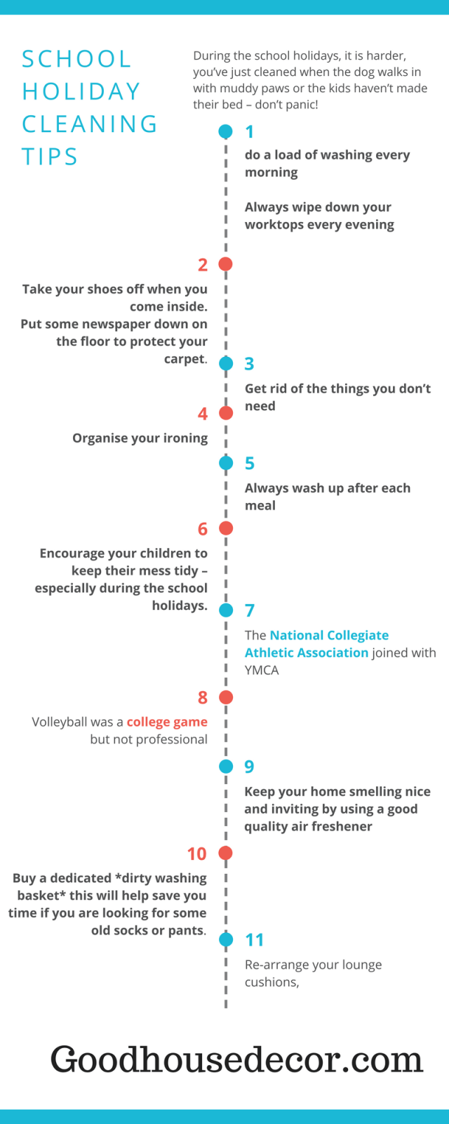 school holiday cleaning tips