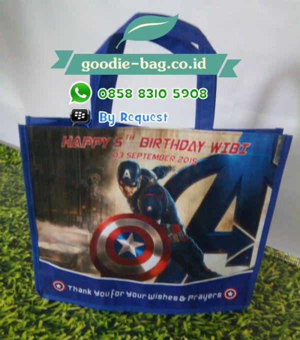 Tas Ulang Tahun Anak Captain America