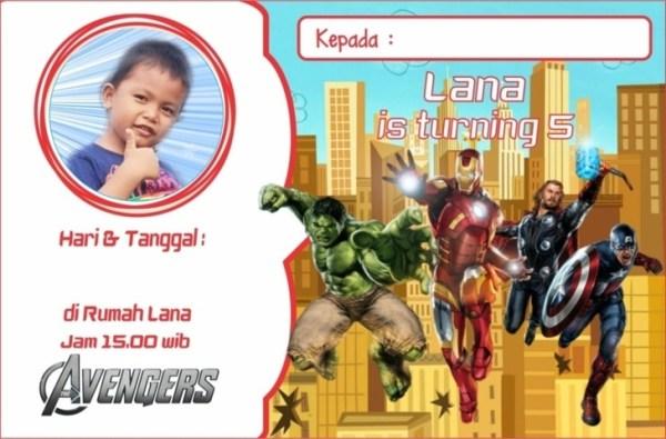 Undangan Ultah anak Avengers