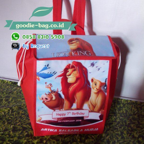 Tas Souvenir Ulang Tahun Lion King Gendong