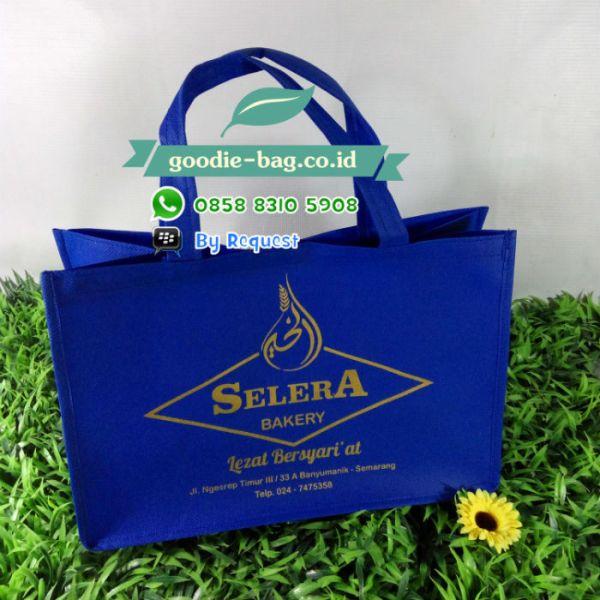 goodie bag promosi sablon emas gold silver perak