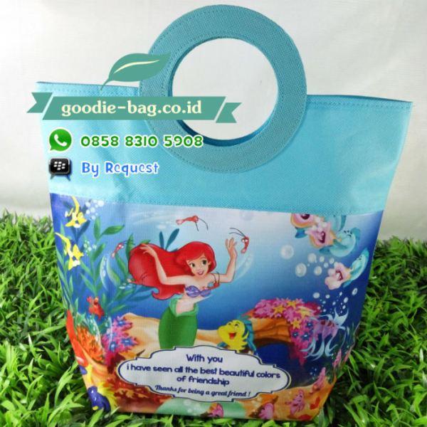 Tas Ulang Tahun Mermaid Ariel Putri Duyung / tas souvenir ultah putri duyung