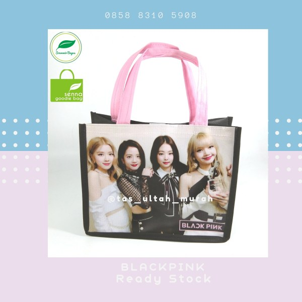Tas Souvenir BLack Pink Goodie Bag Black Pink jakrta