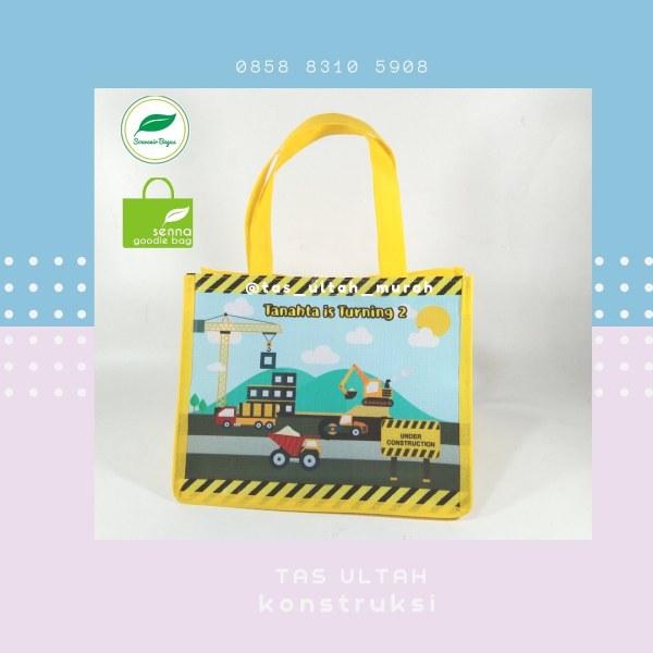 Goodie Bag Ulang Tahun Custom Pakai Nama Excavator Boy jakarta
