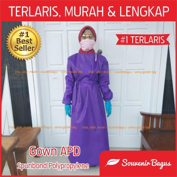 Jual APD Gown Alat pelindung diri baju untuk tenaga medis Dokter Bidan Perawat Laborat