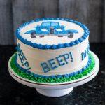 Little Blue Truck Smash Cake Buttercream Transfer Tutorial Goodie Godmother