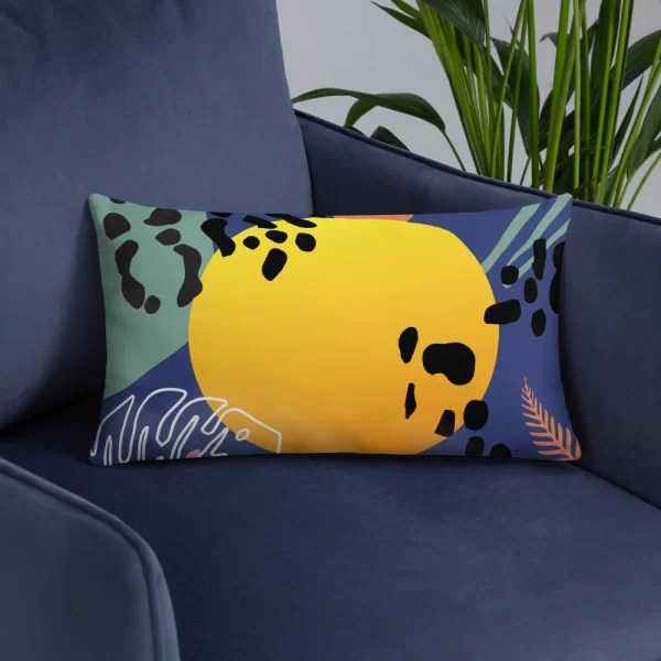 Colourful Jungle Pillow   Boho   Eclectic   3 Sizes   Removable Cover