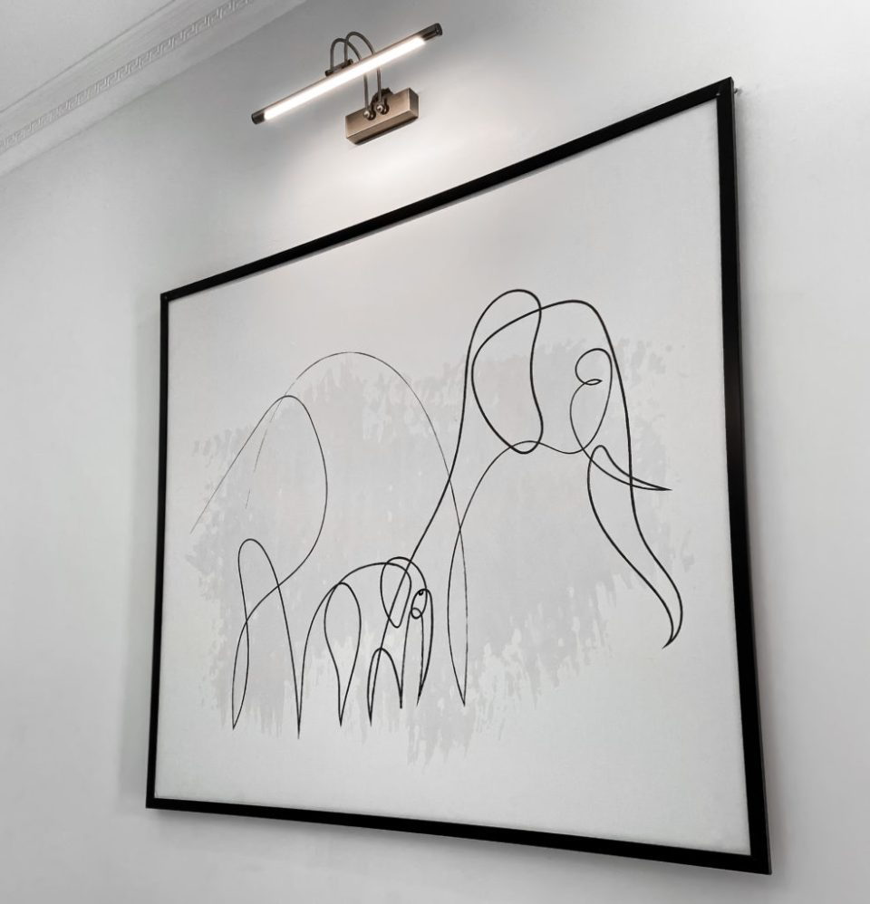 Picture of framed art at whytwscape serviced apartments abuja