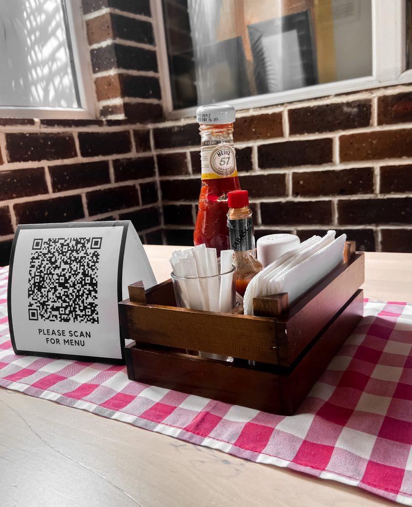 Digital menu barcode at cantina restaurant abuja