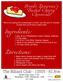Brooke's Busted Cherry Cheesecake Recipe