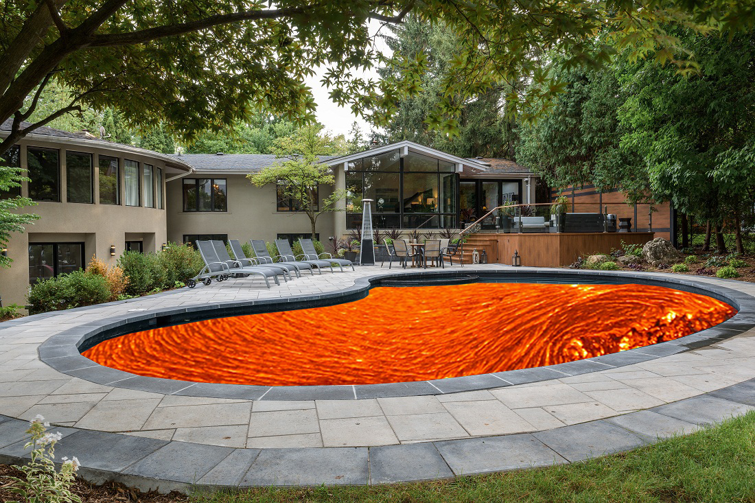 swimming pool lava