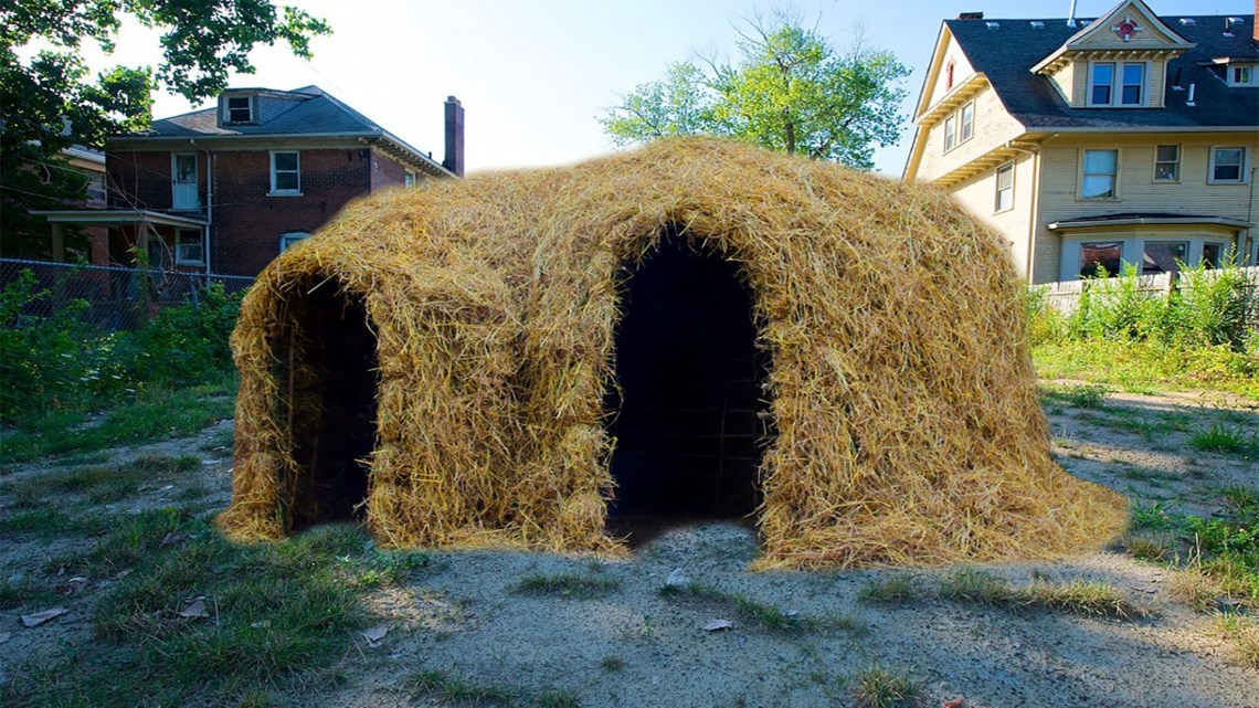 straw house intact