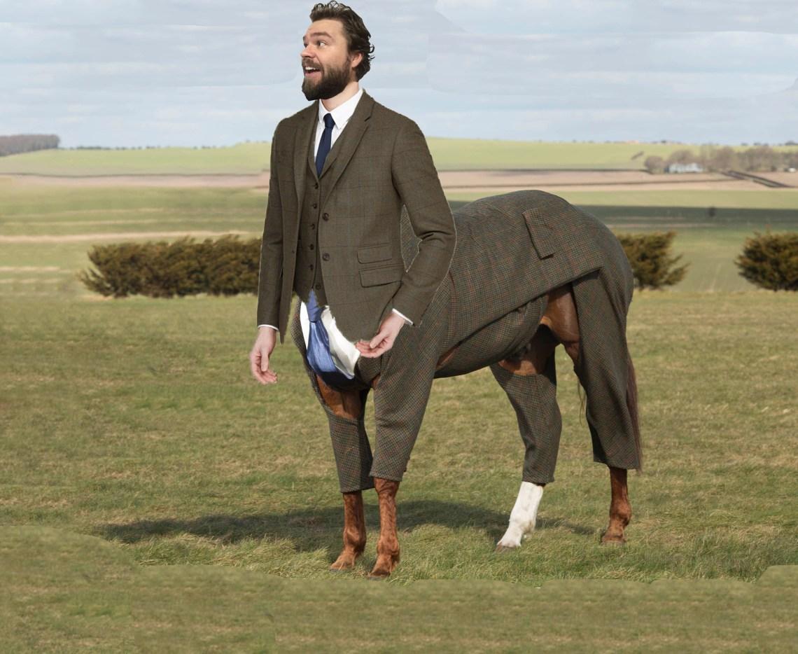 centaur in a suit