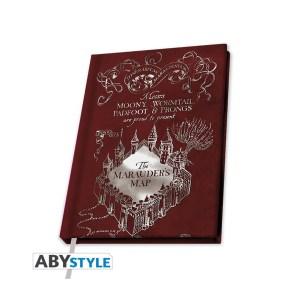 Cahier A5 Harry Potter CARTE DU MARAUDEUR