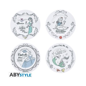 Assiettes Porcelaine DISNEY PRINCESSES lot de 4