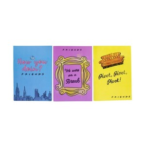 Lot de 3 Carnets FRIENDS