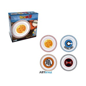 Assiettes porcelaine DRAGON BALL Z lot de 4