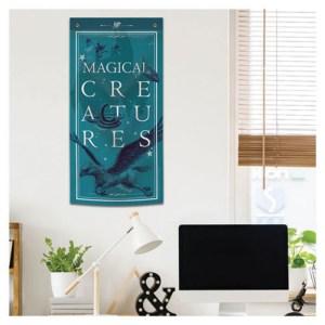 Bannière déco Bleu «MAGICAL CREATURES»