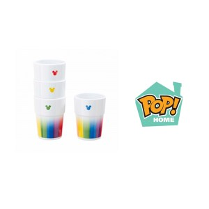 Set de 4 Gobelets MICKEY RAINBOW