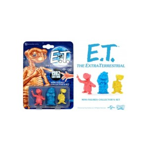 3 Mini Figurines E.T Extraterrestre Doctor Collector 1982 Edition