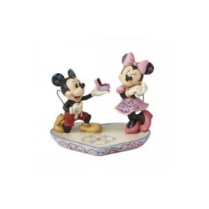 Figurine Disney Traditions Mickey et Minnie La déclaration