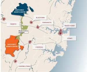 North West and South West Growth Centres (from Planning NSW website)
