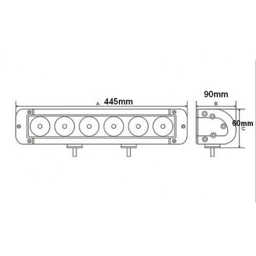 100w 17 Inch cree led offroad work light bar SUV WD 4x4