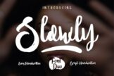 Last preview image of Slowly – Font Duo