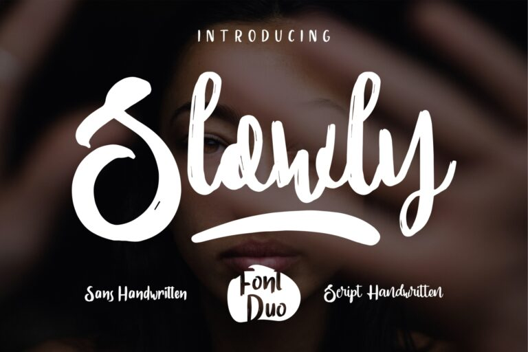 Preview image of Slowly – Font Duo