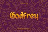 Last preview image of Godfrey – Blackletter Font