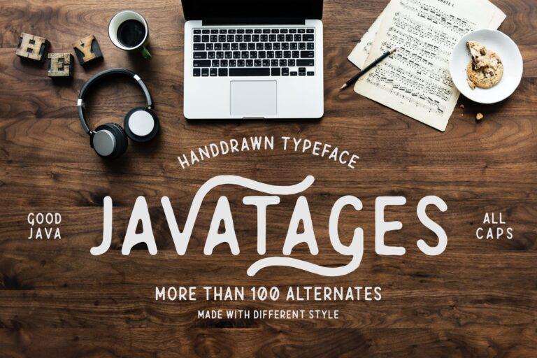 Preview image of Javatages – a Vintage Font