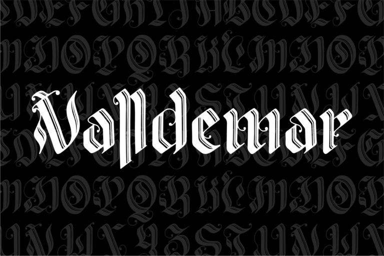 Preview image of Valldemar – Blackletter Font