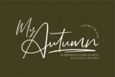 Last preview image of My Autumn Signature Font