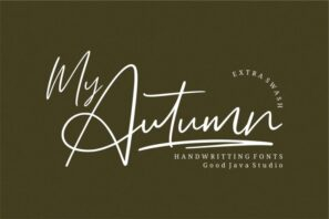 My Autumn Signature Font