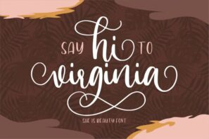 Hi Virginia - a Beauty Font